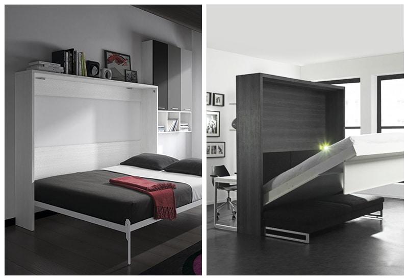 armoire lit escamotable fixation murale autoportante