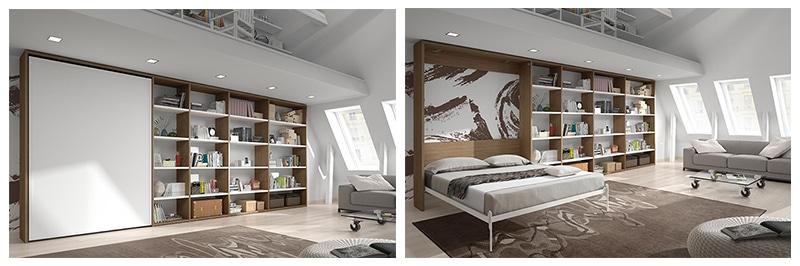 armoire lit escamotable votre chambre devient une pi ce vivre. Black Bedroom Furniture Sets. Home Design Ideas