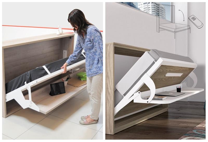 armoire lit escamotable systeme ouverture