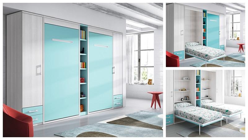 armoire lit escamotable verticale