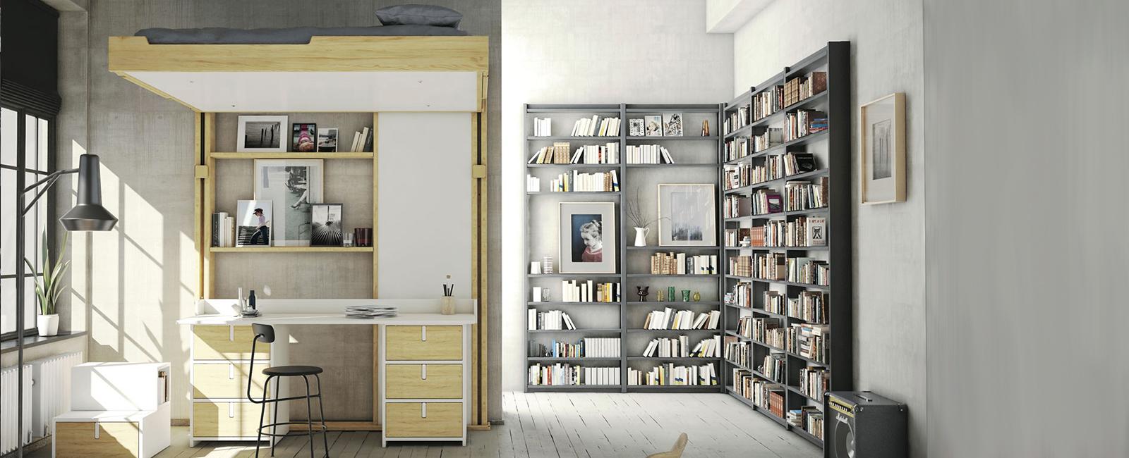 Gain de place, meubles astucieux et design