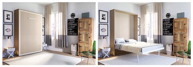 armoire lit escamotable square deco