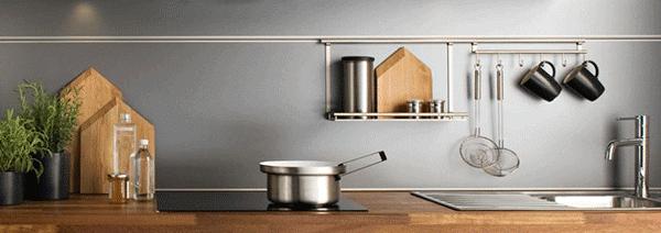 Petite cuisine 8 astuces gain de place for Credence cuisine petite hauteur