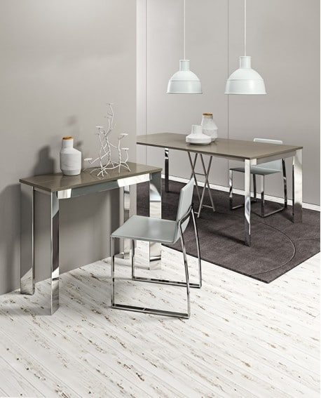 table console extensible square deco