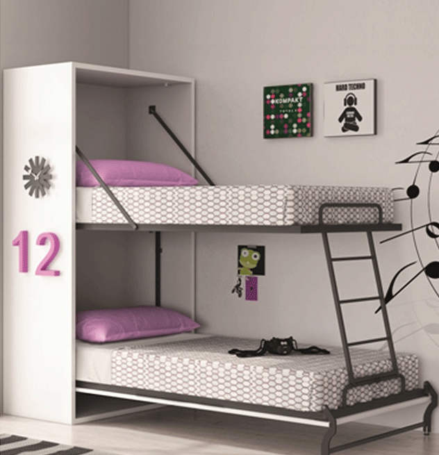 l 39 armoire lits superpos s rabattables le guide square deco. Black Bedroom Furniture Sets. Home Design Ideas